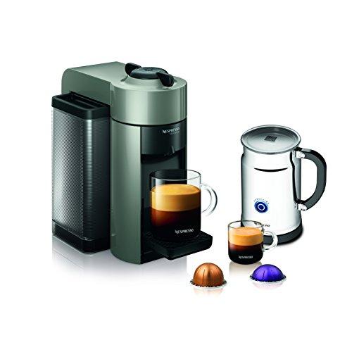 Nespresso A+GCC1-US-GR-NE VertuoLine Evoluo  & Espresso Maker with Aeroccino Plus  Frother, Grey