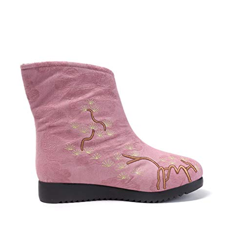 Algodón Nieve Do Cheongsam Tela De Zapatos Botas Moda Yan Botines Invierno Vestir Mujer Retro q1Uyw46