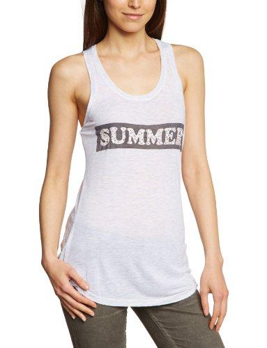 Vila - Camisetas sin mangas con cuello redondo para mujer Blanco