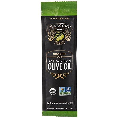Case Oil Olive (TableTop King Marconi .375 oz. Organic Extra Virgin Olive Oil Portion Packets - 100/Case)