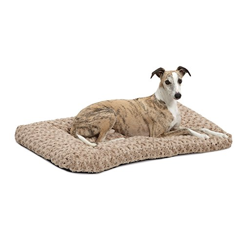 MidWest Homes for Pets Plush Dog Bed | Ombré Swirl Dog Bed & Cat Bed | Mocha 35L x 23W x 2H -...