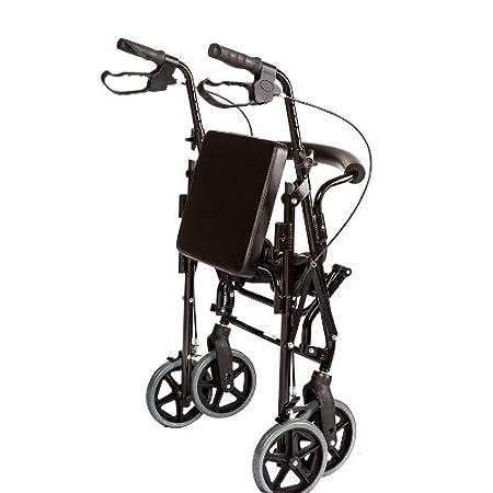 Amazon.com: Healthline Combo Transporte Rollator Silla con ...