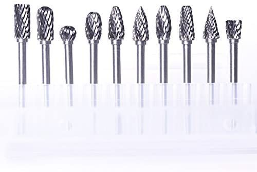 "10pcs 1//8/"" Tungsten Carbide Burr Rotary Drill Bits Tools Cutter Files Set Shank"