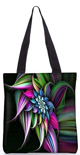 """Snoogg Abstrakten Blumenmuster-Einkaufstasche 13,5 X 15 In """"Shopping-Dienstprogramm Tragetasche Aus Polyester Canvas"""