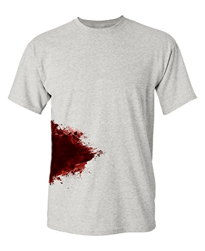 Graphic Zombie Slash Movie Halloween Injury Novelty Cool Funny T Shirt 2XL Ash1