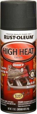 12 Oz Flat Black High Heat Automotive Spray Paint [Set of 6]