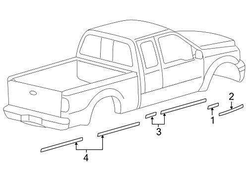 Genuine Ford 8C3Z-25290D13-DA Stripe Decal