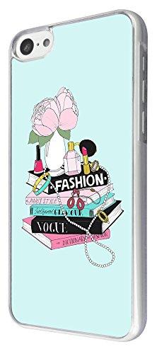 799 - Fashion Magazine Perfume Lipstick Nail varnish Design iphone 5C Coque Fashion Trend Case Coque Protection Cover plastique et métal