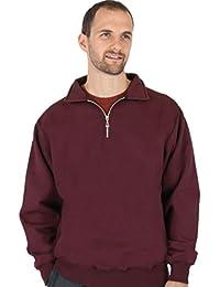 Men's 100% Cotton Quarter Zip Heavy Weight Sweatshirt