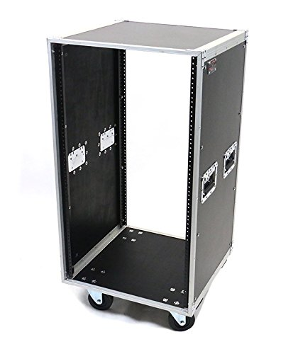 OSP Cases | Deluxe Studio Rack | 20-Space Studio Rack | Handles and Casters | KD20U by OSP