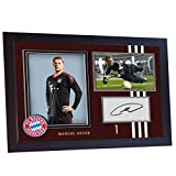 S&E DESING Manuel Neuer Bayern Munich photo signed poster autograph print Framed