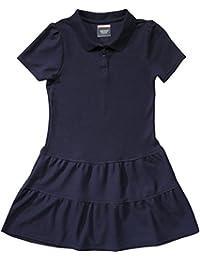School Uniform Girls Ruffled Pique Polo Dress