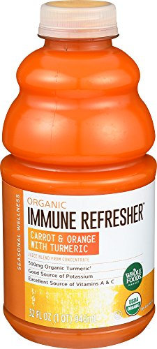 Whole Foods Market, Organic Immune Refresher Carrot & Orange with Turmeric Juice Blend, 32 fl oz