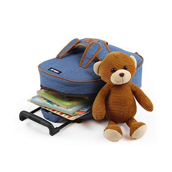Zaino con Rotelle COOLDOT felpato dotato di animaletto di Peluche e Ruote Rimovibili - Adorabile Trolley per Bambini dai… 4 spesavip