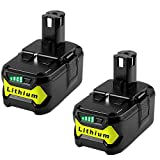 2Pack 4000mAh 18V Lithium Battery Replacement for Ryobi 18-Volt ONE+ P104 P105 P102 P103 P107 P108 P109 Tool