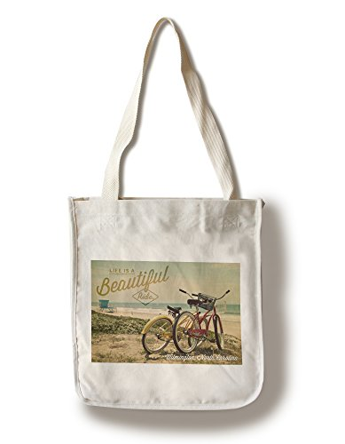 Lantern Press Wilmington, North Carolina - Life is a Beautiful Ride - Beach Cruisers (100% Cotton Tote Bag - Reusable)