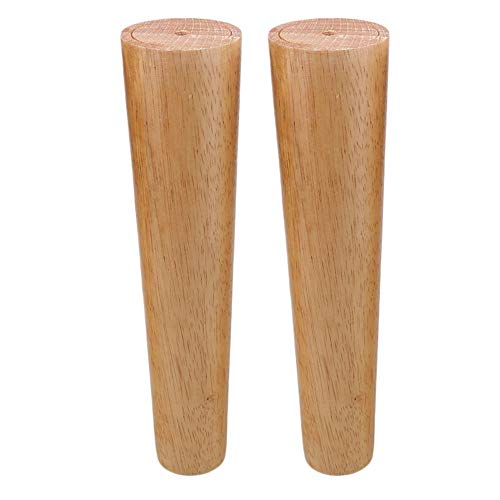 4PCS Furniture Legs 10inch Wooden Furniture Feet Replacement for Sofa Couch Ottaman Legs