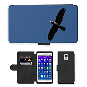 GoGoMobile Flip PU Leather Wallet Case with Credit Card Slots // M00117604 Cockatoo Bird Parrot Black Cockatoo // Samsung Galaxy Note 4 IV
