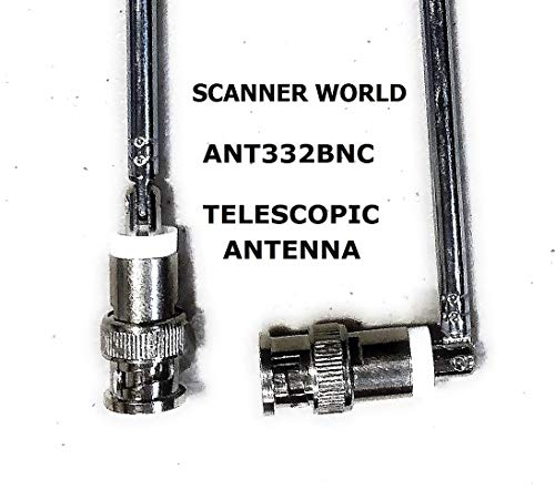 Telescopic BNC Male Swivel Antenna with Metal Connector for Base OR Hand Portable Radio SCANNERS, Wireless Microphones, Remote RECEIVERS, Test Equipment That USE Vertical OR Right Angle BNC Antenna (Best Base Scanner Antenna)