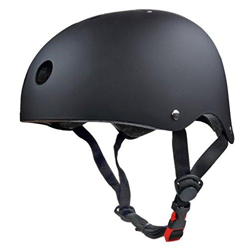 SymbolLife BMX / Skate / Motorroller Helm fahrradhelm motorroller helm Zyklus / Bike / Scooter / Skatehelm CE EN1078 TÜV Zulassungen 54 - 57cm Größe S Schwarz