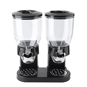 Dispensador de alimentos secos, doble control de doble cámara hermético para almacenamiento de cocina,