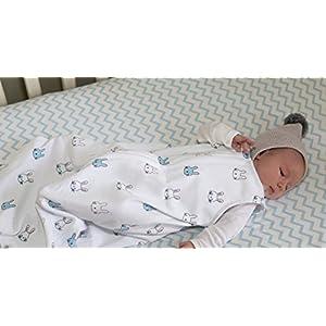 100% Cotton Wearable Blanket Baby Sleep Bag Blue Bunnies 2 Pack (6-12 Months)