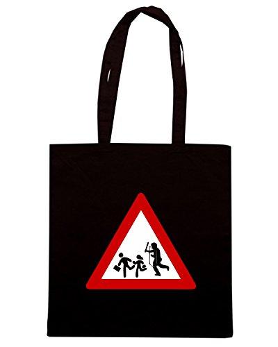 T-Shirtshock - Bolsa para la compra TUM0230 ultras hooligans Negro