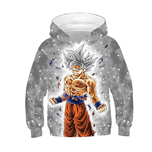 Boys Girls Anime Dragon Ball Z Goku Symbol Hoodies Sweatshirt -