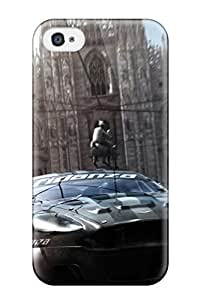 Tpu Case Cover Compatible For Iphone 4/4s/ Hot Case/ Nascar With Free Screen Protector