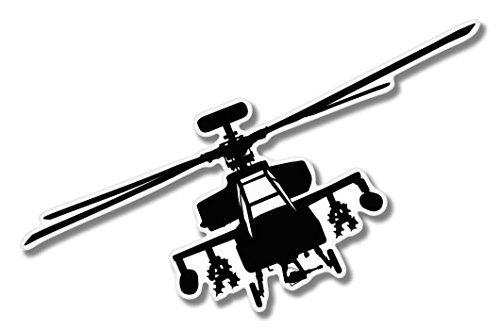 Military Helicopter Vinyl Sticker - Car Window Bumper Laptop - SELECT - Apache Decal Helicopter