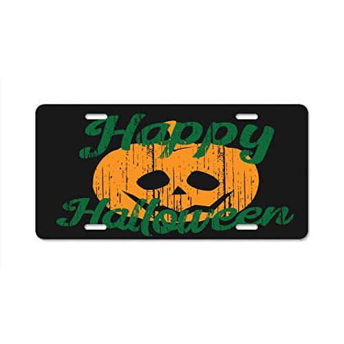 ASUIframeNJK Hallowen Pumpkin Firefighter Lives Matter Flag License Plate Novelty Auto Car Tag Vanity Gift for Fire Fighters]()