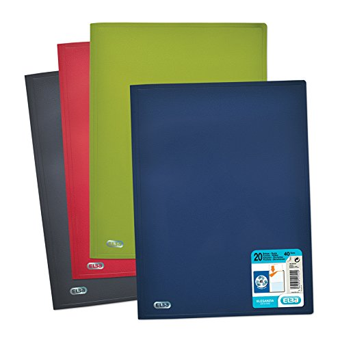 Elba Eleganzia Document Protector - 40-View-opaque polypropylene Leather effect based on polypropylene A4 Recycled (random color)