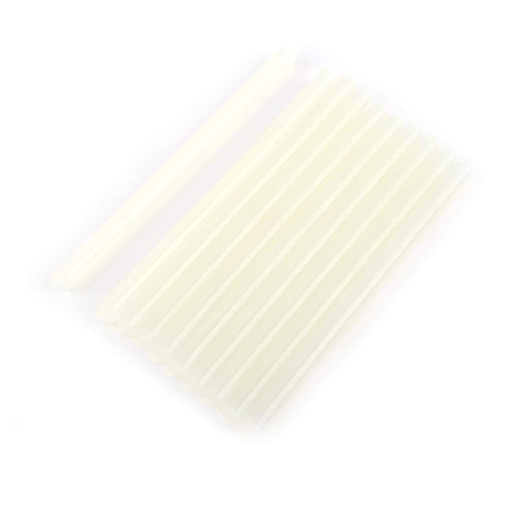 10pcs Bâtons de Colle à Chaud Transparent Dégagent par Pistolet à Colle Électrique, Bâtons de Colle Adhésif de Fonte à Chaud 20cm long 7mm / 11mm(11mm) Hilitand