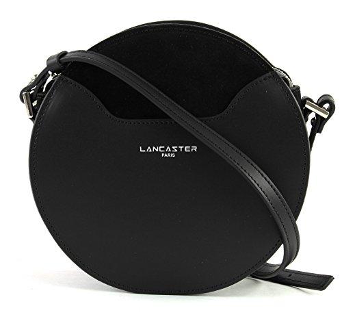 Noir Sac 20 Circle Lancaster Vendôme bandoulière cuir Lune cm qOFwR8A