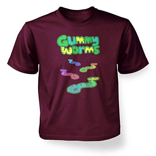 Gummy Worms Kids T-shirt - Maroon S (5-6)