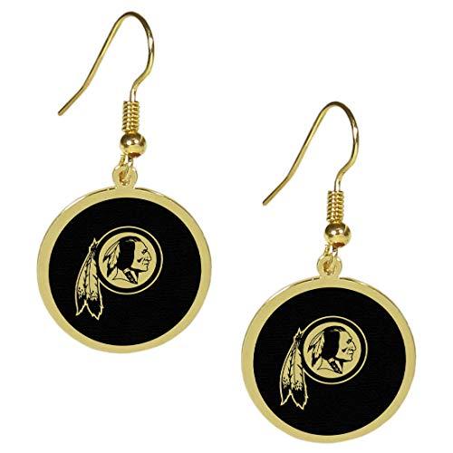 (Siskiyou NFL Washington Redskins Gold Tone Earrings, Dangle)