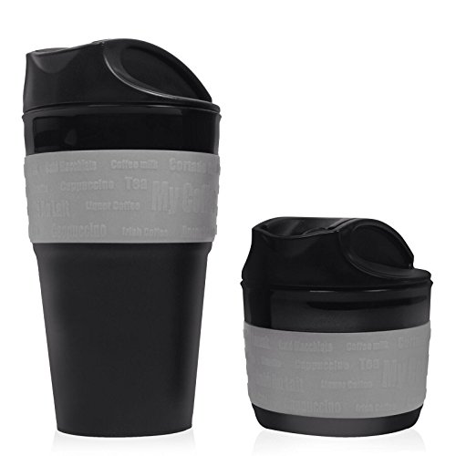 Gray, Collapsible Travel Cup, Mug Silicone Travel Mug, BPA Free. An Excellent Gift Idea