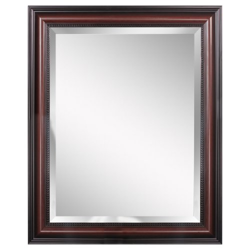 - Head West Traditional Cherry Wall Mirror, 28-Inch by 34-Inch