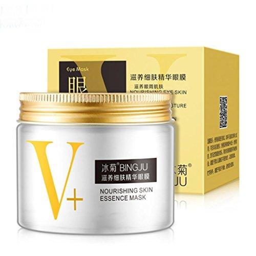 Besde Eye Mask 1Set 80pcs New Green Tea Powder Gel Collagen Masks Sheet (A, White) (Mask White Tea Moisture)