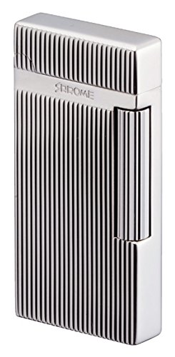 Sarome Flint Lighter SD6-17 Silver Hairline/Diamond Cut