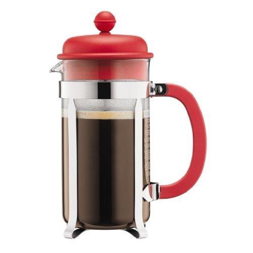 Bodum Caffettiera 1-Liter 8-Cup Coffee Maker, 34-Ounce, Red
