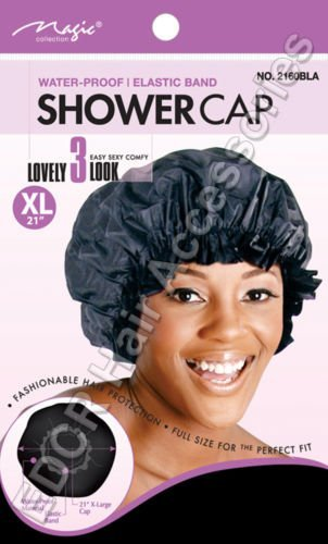 """Magic Collection X-Large Water-Proof Shower Cap With Elastic Band *XL 21/""""  #2160"""