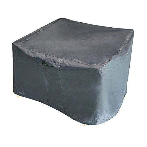 M/&H Heavy Duty Waterproof Patio Medium Chair Cover Fits Single or Stack Outdoor Cover with Padded Handles and Durable Hem Cord Weather Resistant Taupe 25.5 x 33.5 x 45 inch