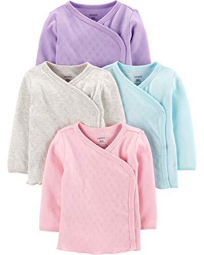 (Carter's Baby Girls 4 Pack Kimono Tees (Preemie, Pastel Colors))