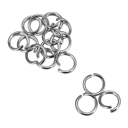 Housweety Stainless Steel Rings Findings