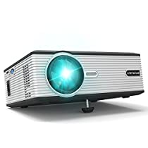 Crenova XPE470 Mini LED Video Projector Office Projector Outdoor/Indoor Home Projector (Supports 1080P via USB Drive, TV, Laptop, Android Smartphone, iPad, iPhone) for Home Cinema Theater-Black