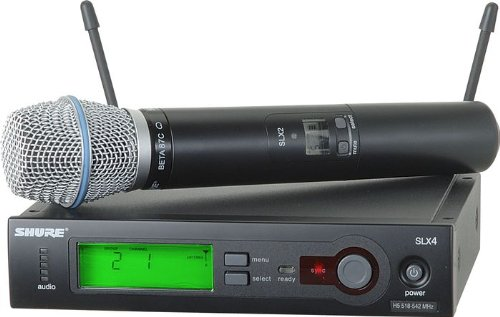Shure SLX24/BETA87C Handheld Wireless System, H5 ()