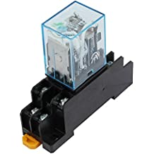 Uxcell a15062300ux0219 IEC255 DC 12V Coil 8Pin DPDT Electromagnetic Power Relay with Socket Base