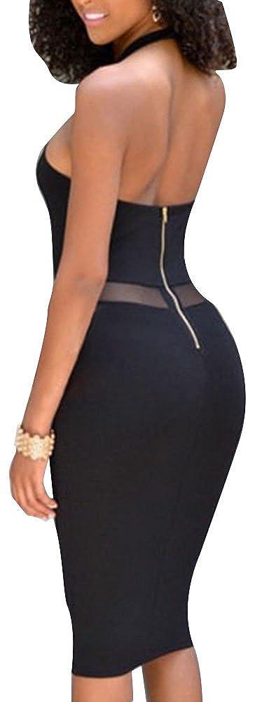 Cfanny sexy cut-out bandage bodycon midi dress