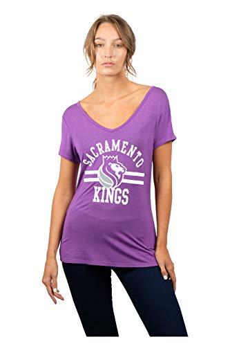 NBA Sacramento Kings Women's T-Shirt Relaxed Short Sleeve Tee Shirt, Large, ()